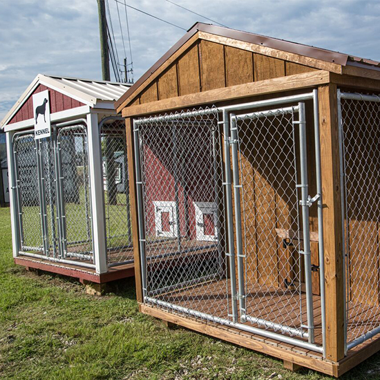 Buy best outdoor wooden dog kennels georgia yard barns for Dog kennel greenhouse
