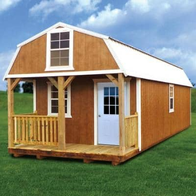 Premier Lofted Barn Cabin Shed Plans Georgia Pre Built Cabins