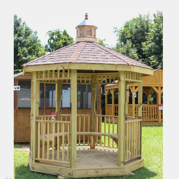 wooden gazebo house